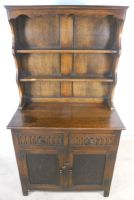Antique Jacobean Style Oak Welsh Dresser by Reprodux